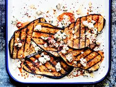 Grilled Eggplant With Feta and Maras Pepper From 'The Big-Flavor Grill' | Serious Eats