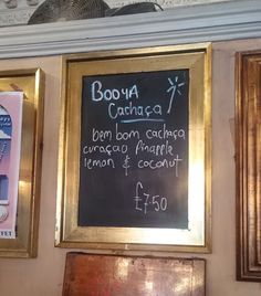 Fancy trying something different this week? Why not head down the the Villager in Edinburgh for a Booya Cachaça featuring our very own BemBom Brazilian rum (aka cachaça) with curaçao, pineapple, lemon and coconut. Brazilian Rum, Pretty Good, Edinburgh, Chalkboard, Pineapple, Lemon, Coconut, Fancy, Chalk Board