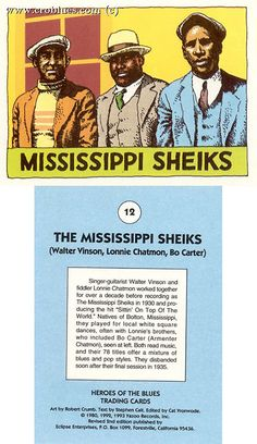 Mississippi Sheiks trading card