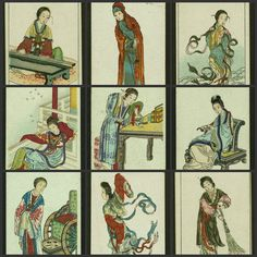 29 VINTAGE Chinese Beauty Antique Cigarette Cards JPG by joapan, $3.50