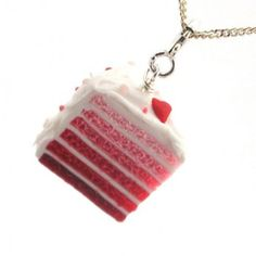 Valentine's Day Cake Necklace by inedible jewelry