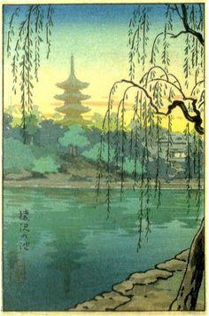 Sarusawa Pond, by Tsuchiya Koitsu, 1936