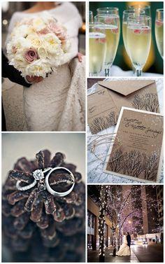 Winter wedding- that ring
