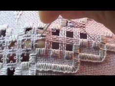Embroidery Hardanger .Hardanger Eyelets