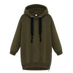 Womens Long Sleeve Hooded Loose Warm Hoodies Sweatshirt