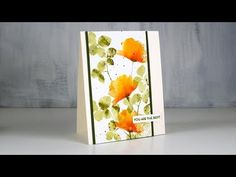 cardmaking video by Heather Telford: Loose Watercolour Floral . Penny Black Cards, Penny Black Stamps, Card Making Tutorials, Card Making Techniques, Video Tutorials, Flower Stamp, Flower Cards, Watercolor Cards, Floral Watercolor