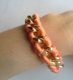 Croche and chain bracelet - beautifull summer bracelet