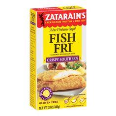 Want a crispy Southern fried fish recipe? Zatarain's Crispy Southern Style Fish-Fri gives catfish, or any fish, an especially crisp texture. Fried Fish Recipes, Seafood Recipes, Snack Recipes, Catfish Recipes, Seafood Menu, Pudding Recipes, Seafood Dishes, Salmon Recipes, Meat Recipes