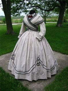 US Civil War Visiting Gown Dress, 1860s,Victorian, Living History,Period Correct #LCDLimited #CivilWareragown