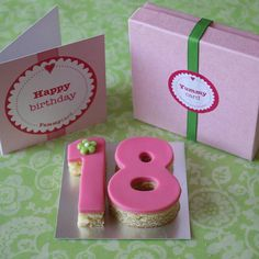 Teen Birthday Age Cake Card