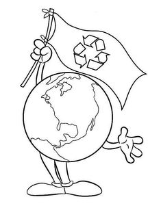 Go Recycling on Earth Day Coloring Page - NetArt Earth Day Coloring Pages, School Coloring Pages, Flag Coloring Pages, Coloring Pages For Kids, Free Coloring, Earth Day Drawing, Earth Drawings, Earth Day Pictures, Coloring Pictures For Kids