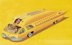 Retro-Futuristic art. Concept BruceMcCall. future vehicle