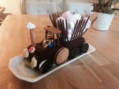 Recette et tutoriel pour réaliser facilement un gâteau tracteur.