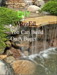 12 DIY Outdoor Waterfall-Enjoy the sight and sound of running water in your backyard.