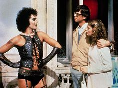The Rocky Horror Picture Show, Starring: Tim Curry, Susan Sarandona dn Barry Bostwick.