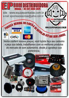 EP SOM DISTRIBUIDORA  tudo o que você precisa para o som automotivo. www.equipepankadao.com.br (47) 3333-3576 Rua Belo Horizonte Nº 488 Bairro Tapajos Indaial - SC