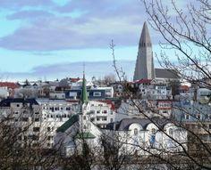 Reykjavik city including the 'Volcanic' church
