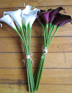 White & purple calla lilies bouquets - Google Search