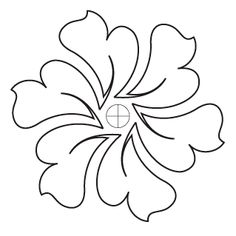 Hyacinth Block 1 - Digital - Quilts Complete - Continuous Line Quilting Patterns Hand Quilting Designs, Machine Quilting Patterns, Quilting Stencils, Quilting Templates, Longarm Quilting, Free Motion Quilting, Quilting Projects, Embroidery Patterns, Block Patterns