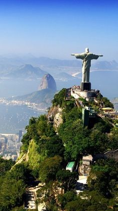 Visiting Christ the Redeemer ft.) in Corcovado, Rio de Janeiro, Brazil Places Around The World, Travel Around The World, Around The Worlds, Dream Vacations, Vacation Spots, Future Travel, Adventure Is Out There, Travel Goals, Wonders Of The World