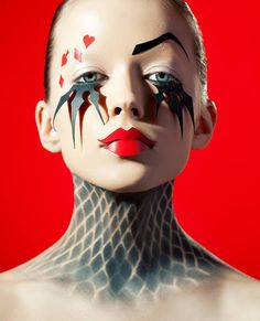 ICON FACE school make-up and style. Agency stylists | Fantasy Avant Garde