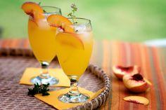 Peach Cooler Recipe made with fresh peach juice   @whiteonrice