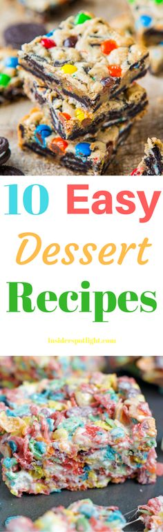 *Click To Learn How* I have found 10 easy dessert recipes perfect for any occasion. Treat your friends and family to something great. Try these desserts at your next family gathering, birthday, or get together and watch them fly off the plate. Tell us which ones you like the best. Be sure to repin :)