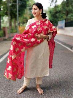 Repurpose old sarees into dupattas