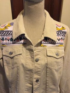 Vintage Jean Jacket in Brushed Cotton with by reconstruKteD