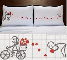 Brilliant Cross Stitch Embroidery Tips Ideas. Mesmerizing Cross Stitch Embroidery Tips Ideas. Cross Stitching, Cross Stitch Embroidery, Embroidery Patterns, Hand Embroidery, Cross Stitch Patterns, Wedding Cross, Cross Stitch Heart, Diy Pillows, Le Point