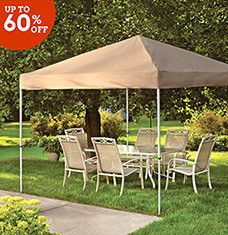 Whether you want one for storage or for comfort, a canopy is a stylish and functional addition to your driveway or yard. Keep equipment safe with a heavy-duty cover, or  save on garage space by parking your car under a waterproof tent or powder-coated aluminum carport. Elegant, screened-in gazebos protect you from insects while letting you relax in the great outdoors.