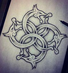 Fotky Slavic and Scandinavian tattoos Rune Tattoo, Knot Tattoo, Norse Tattoo, Tattoo On, Body Art Tattoos, Sleeve Tattoos, Tatto Viking, Viking Art, Viking Tattoos