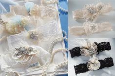 Vintage inspired garter sets by Ivy Lane Design are adorned with rhinestones, pearl beads, lace, feathers and more to add elegance and sophistication to an accessory your are sure to treasure for years to come.