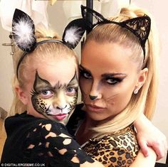 Like mother, like daughter: Katie's little girl Princess also got her face painted and the...