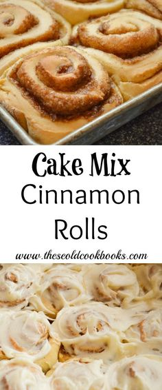 For a homemade yeast roll these Cake Mix Cinnamon Rolls are relatively quick to make and the result is a super soft cinnamon roll. The post Cake Mix Cinnamon Rolls appeared first on Win Dessert. Cake Mix Desserts, Cake Mix Recipes, Donut Recipes, Dessert Recipes, Cake Mixes, Quick Recipes, Frugal Recipes, Amish Recipes, Brunch Recipes