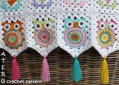 owl granny square #crochet