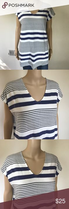 Anthropologie Lilka V- neck long Tee M This is so extremely comfortable and very cute! Size medium very soft oversized shirt. The length is approximately 29 inches long and from armpit to armpit measures approximately 21 1/2 inches. Very clean,  no stains or tears. Anthropologie Tops Tees - Short Sleeve