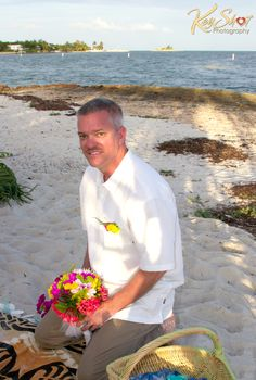 Vow renewal on Sombrero beach Marathon Fl