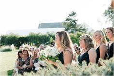 The ladies standing in line at Lakeview. Bridesmaid Dresses, Wedding Dresses, Lake View, Beautiful Gardens, Photo Credit, Pond, Rustic Wedding, Pergola, In This Moment