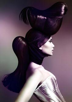 Golden Ratio Hair | Coiffure: Yoshi Su - 2014 Australian Hair Fashion Awards Avant Garde Hairdresser of the Year Salon: Rokk Ebony Makeup | Maquillage: Sarah Baxter Photo: Elizabeth Kinnaird http://www.canhair.com/collections/?id=4364
