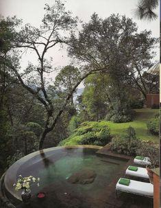 garden swimming pool by twila
