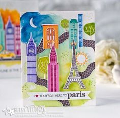 City Scene Revisited: I Love You Card by Betsy Veldman for Papertrey Ink (May 2016)