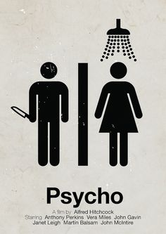 Psycho. Pictogram Movie Posters series. Click for more.