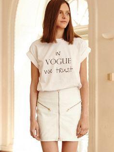 MLM - In Vogue We Trust - Slogan Tee - Boyfriend Style $79.00