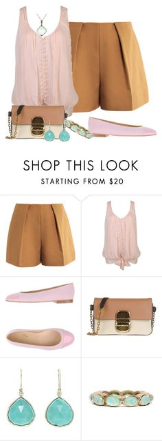 """""""Turquoise & Pink"""" by jayhawkmommy ❤ liked on Polyvore featuring Carven, Forever 21, Chérie Amour, Marc Jacobs, Jamie Joseph, Armenta, Soixante Neuf, women's clothing, women and female"""
