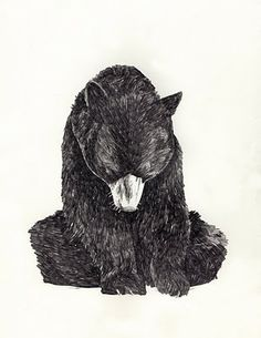 JAMIE MILLS I can't get enough animal art. Love this bear.