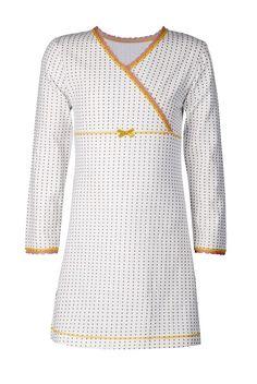 Claesen's nachtjapon voor meisjes Golden Stars, wit