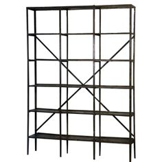 A Wall Industrial Book Rack