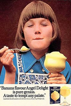 Sales of long-forgotten foodstuffs such as Angel Delight are fuelling an edible nostalgia boom worth more than several hundred million pounds. Retro Recipes, Vintage Recipes, Retro Ads, Vintage Ads, Retro Food, Retro Sweets, 1970s Childhood, Childhood Memories, Angel Delight