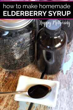 One of the benefits of elderberry syrup is supporting a healthy immune system. Learn how to make homemade elderberry syrup for a fraction of the price Elderberry Honey, Elderberry Recipes, Cold Remedies, Natural Remedies, Herbal Remedies, Homemade Syrup, How To Make Homemade, Food Print, Immune System